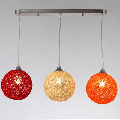Sunset 3-Light Kitchen Island Pendant