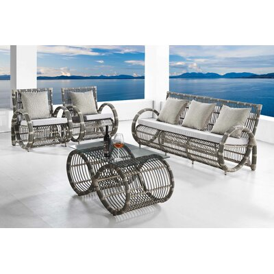 Infinity 4 Piece Lounge Seating Group with Cushions