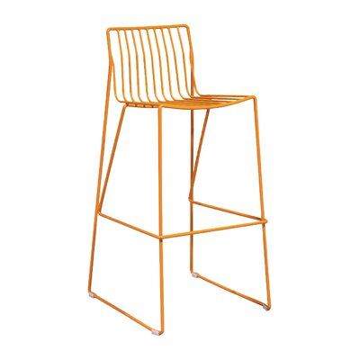 Villagomez 30 Bar Stool Finish: Orange