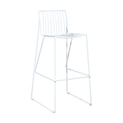 Villagomez 30 Bar Stool Finish: White