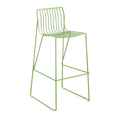 Villagomez 30 Bar Stool Finish: Green