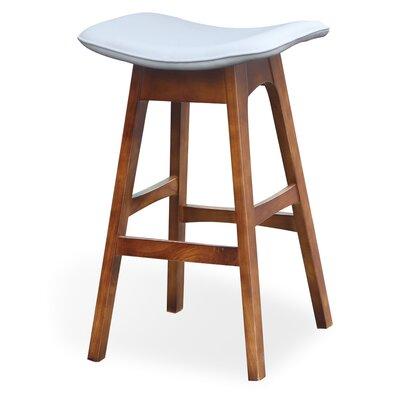 Kipperman 28 Bar Stool Upholstery: White