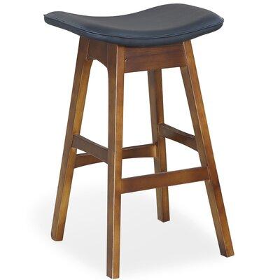 Kipperman 28 Bar Stool Upholstery: Black