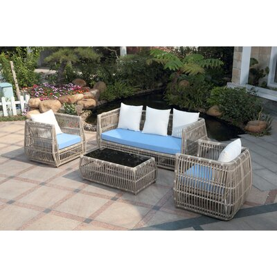 Chavaughn 4 Piece Deep Seating Group with Cushions