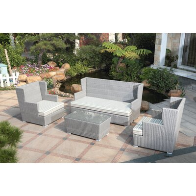 Ascent 4 Piece Deep Seating Group with Cushions