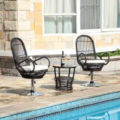 Pala 3 Piece Deep Seating Group with Cushions