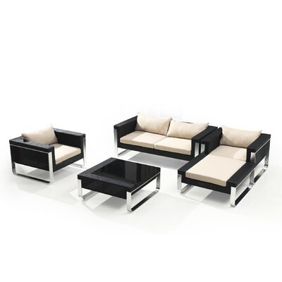 Wilmont 5 Piece Deep Seating Group with Cushion