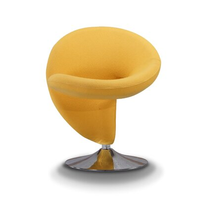 Herkimer Lounge Chair Upholstery: Yellow