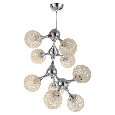 Hollymead 9-Light Sputnik Chandelier Shade Color: Cream