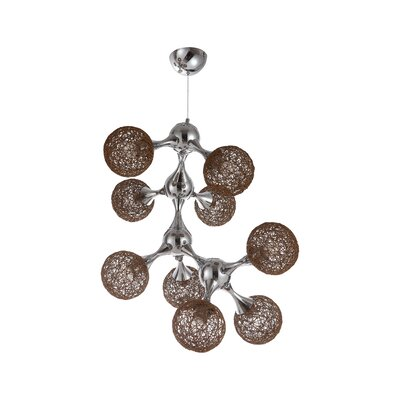 Atom 9-Light Sputnik Chandelier Shade Color: Mocha