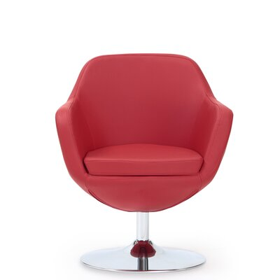 Wharton Swivel Leisure Armchair Upholstery: Red
