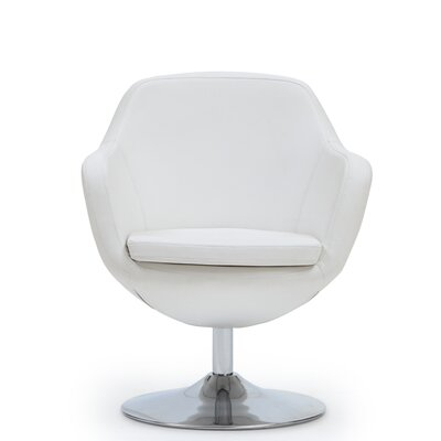 Wharton Swivel Leisure Armchair Color: White