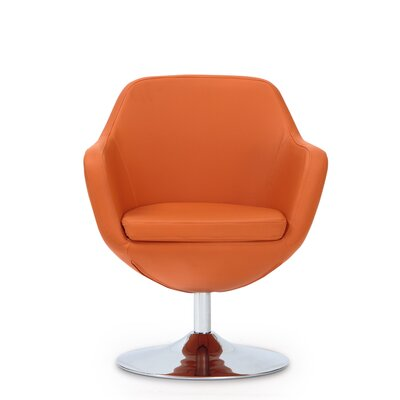 Wharton Swivel Leisure Armchair Color: Orange
