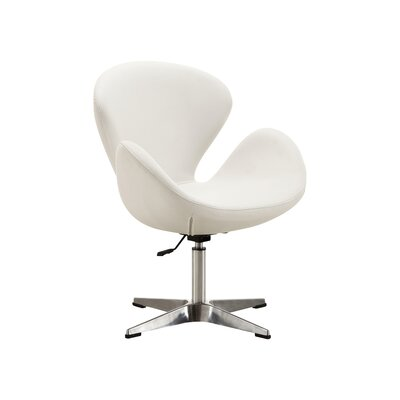 Alfredo Leisure Lounge Chair Upholstery: White