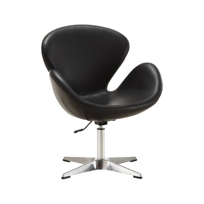 Alfredo Leisure Lounge Chair Upholstery: Black