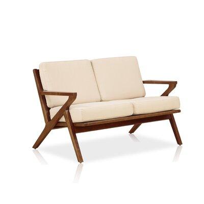 Martelle Standard Loveseat Upholstery: Cream