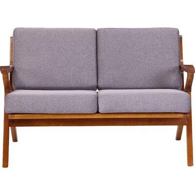Martelle Standard Loveseat Upholstery: Gray