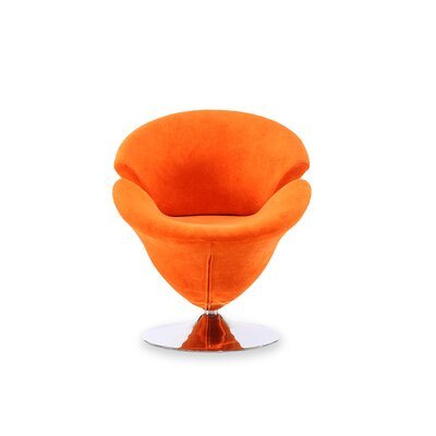 Herald Square Leisure Barrel Chair Upholstery: Orange