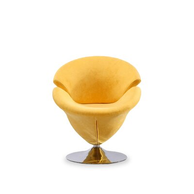 Leisure Barrel Chair Upholstery: Yellow