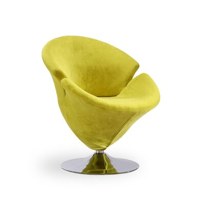 Herald Square Leisure Barrel Chair Upholstery: Green