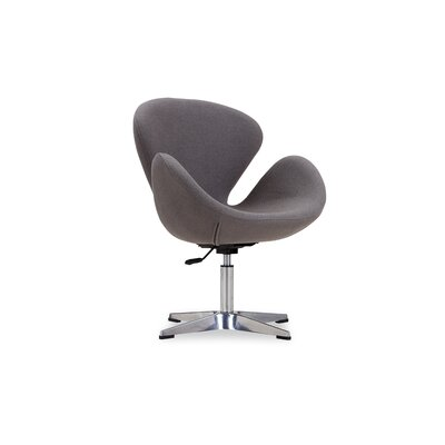 Hero Adjustable Side Chair Upholstery: Grey
