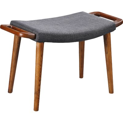 Kremer Ottoman Upholstery: Gray