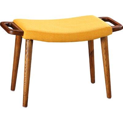 Kremer Ottoman Upholstery: Yellow