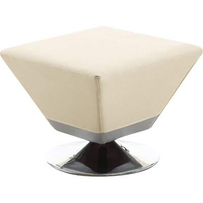 Sifford Cube Swivel Ottoman Upholstery: Cream