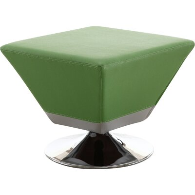 Cube Swivel Ottoman Upholstery: Green