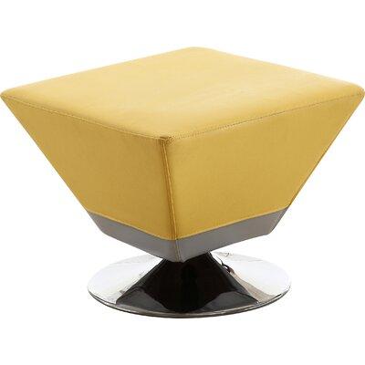 Cube Swivel Ottoman Upholstery: Yellow
