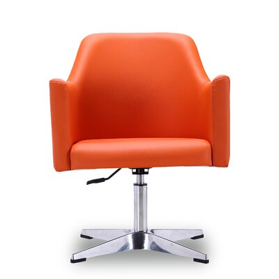 Tribeca Adjustable Armchair Color: Orange