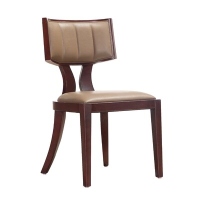 Regency Side Chair Upholstery: Mocha