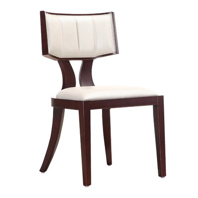 Regency Upholstered Dining Chair Upholstery: Cream