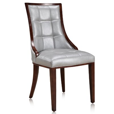 Barrel Upholstered Dining Chair Upholstery: Silver