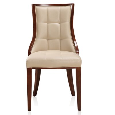 Fien Upholstered Dining Chair Upholstery: Cream