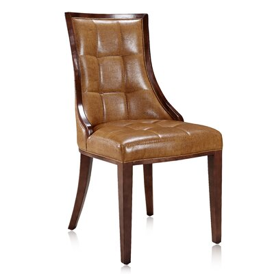 Barrel Side Chair Upholstery: Camel