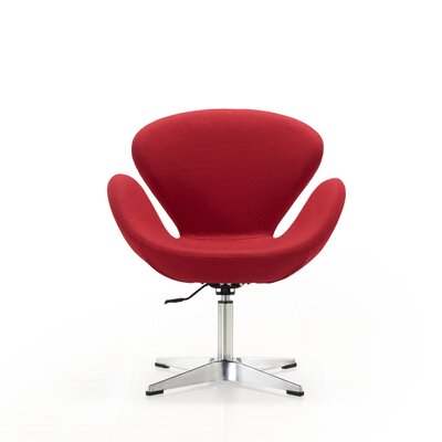 Raspberry Lounge Chair Upholstery: Red