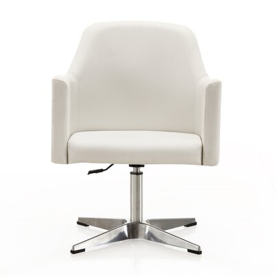 Raisa Adjustable Armchair Color: White