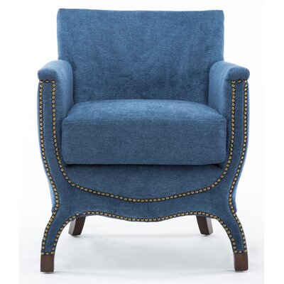 Corine Chenille Modern Accent Armchair Upholstery: Azure Blue