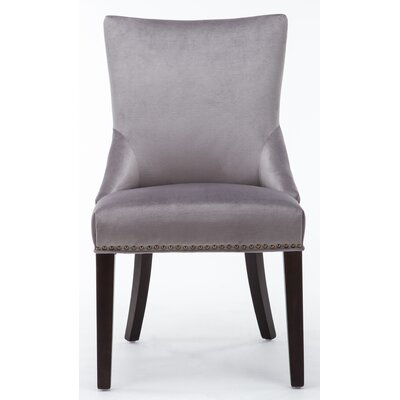 Barr Velvet Tufted Side Chair Upholstery: Gray