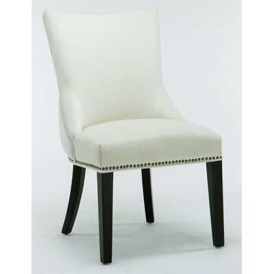 Barr Velvet Tufted Side Chair Upholstery: Cream