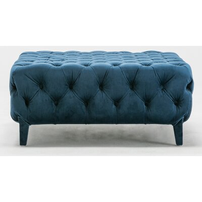 Galghard Chesterfield Ottoman Upholstery : Royal Blue
