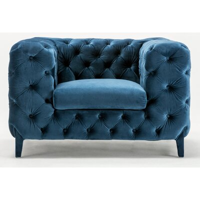 Galghard Chesterfield Chair Upholstery : Royal Blue