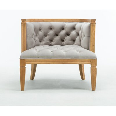 Williamson Barrel Chair Upholstery: Dove Gray, Finish: Gold