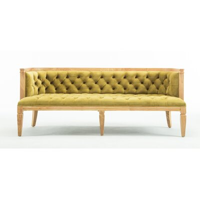 Williamson Sofa Upholstery: Citron Gold, Finish: Natural