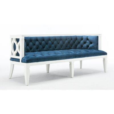 Williamson Sofa Upholstery: Blue, Finish: White