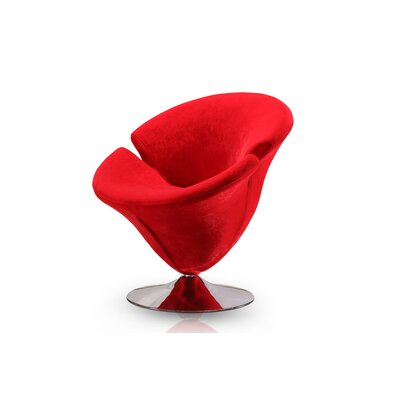 Herald Square Leisure Barrel Chair Upholstery: Red