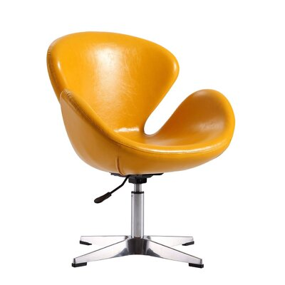 Alfredo Leisure Lounge Chair Upholstery: Yellow