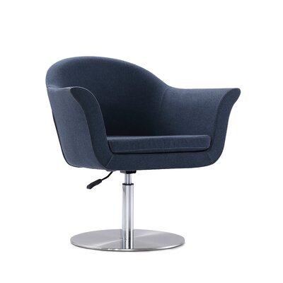 Luttrell Adjustable Swivel Armchair Upholstery : Smokey Blue