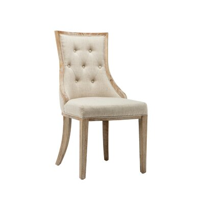 Lizete Upholstered Dining Chair Upholstery Color: Barley